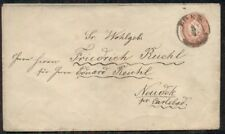 AUSTRIA 5kr postal stationery tied EGER to NEUDEK