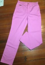 Escada Vintage Pink High Waisted Straight Leg Jeans 80s 90s