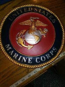 """United States Marines Stepping Stone or wall hanging  10"""" Diameter"""