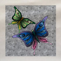 Butterflies flowers - Printed Fabric Panel Make A Cushion Upholstery Craft