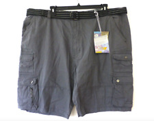 e46acabf69 Plugg Shorts Big & Tall Mens Size 44 Harbor Grey Belted Twill Cargo Shorts  New