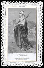 santino merlettato-holycard-canivet S.VITTORIA V.M.
