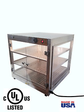 """Commercial Food Warmer HeatMax 24x24x24 up to 20""""Large Pizza Heated Display Case"""