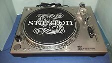 Stanton STR8-50 turntable used TESTED & WORKING w/ good audio technica stylus