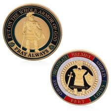 Put On The Whole Armor Of God Commemorative Challenge Coin Souvenir Golden