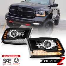 13-18 Dodge Ram 1500/2500/3500 Factory Style Black LED DRL Projector Headlight