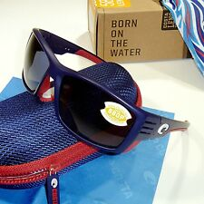 Costa Del Mar Cortez Polarized Sunglasses-USA Blue Frame/Gray Mirror 580P Lens
