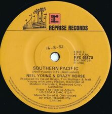 Neil Young Orig Oz 45 Southern pacific Nm '81 Reprise Rps49870 Pop Rock