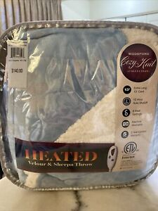 Biddeford Collection Velour Sherpa Electric Blanket 50 X 62 In. New! MSRP $140.