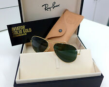 NEW 100% Authentic RayBan RB3025K 160/N5 58mm 18K Solid Gold Aviator Sunglasses