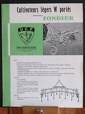 ▬►Prospectus de 1958  Cultivateurs Légers W Portés UCF Someca Massey IH