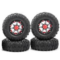 "2.2"" Metal Beadlock Wheels & OD 120mm Rubber Tires for 1/10 RC Wraith SCX10 TRX4"