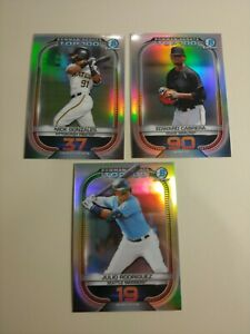 2021 Bowman Chrome Scouts Top  100 Prospect Baseball Cards  - 3 Cards