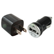 "2 Pack USB Black Mini Wall+Car Charger Plug for Apple iPhone 6 6s Plus 4.7"" 5.5"""