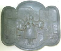 .COMICAL / RISQUE / QUALITY / VINTAGE / HEAVY SET PEWTER TRAY DISH.