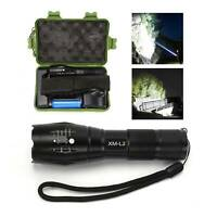 Tactical Torch Super Bright Powerful Police 150000LM Lamp L2 LED Flashlight Set