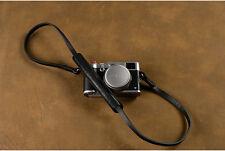 Handmade Black Leather Neck Shoulder Rest Belt Strap Sling for Leica Fuji Camera