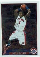 2003-04 Topps Chrome Detroit Pistons Baskeball Card #30 Ben Wallace