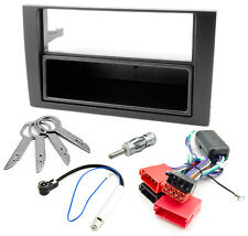 Radioblende Set AUDI A4 B6 8E Blende DIN Aktivsystem Adapter Phantomspeisung