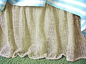 Soft Surroundings Raw Silk Woven Bedskirt Natural King