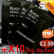 Mens Black Peel Off Masks For Blackhead Whitehead Remover Face Pore Cleaner X10