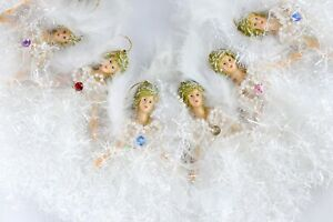Set of 12 Monthly Birthstone Angel Hanging Ornaments