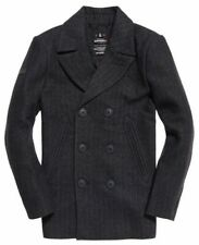 Nueva camisa para hombre Novato Premium PEA Coat carbón Herringbone pequeño