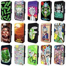Rick y Morty TV show increíble Teléfono Abatible Estuche Cubierta para iPhone 4 5 6 7 8 X