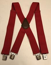 "Carhartt 45002 Red Suspenders Adjustable Size 52"""