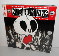 SUBHUMANS live in a dive DOUBLE Lp Record SEALED Vinyl