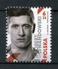 Poland 2018 MNH Robert Lewandowski Footballer 1v Set Football Soccer Stamps