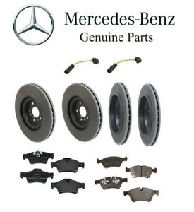 For Mercedes Benz X164 GL450 07-12 Front+Rear Rotors w/ Pads Sensors Brake Kit