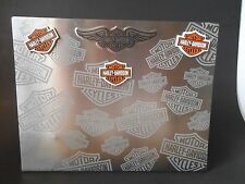 "10"" Harley-Davidson Motorcycle Heavy Metal Board Photo Holder Memo Magnets Shop"