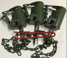 Dp setter tool + 3 Powder Coated Fps Dp Dog Proof Coon Traps Raccoon New Sale
