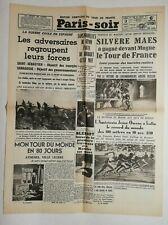N694 La Une Du Journal Paris-soir 3 août 1936 Silvère maes tour de France
