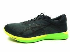 ASICS FUZEX RUSH T718N 9790 CARBON BLACK SAFETY YELLOW MEN SHOES SIZE 10