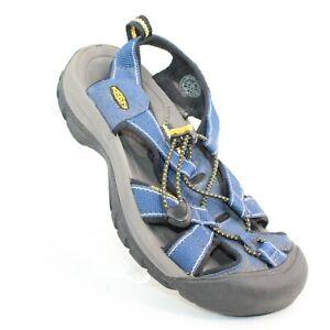 KEEN Womens Sz 6 Hiking Trail Outdoor Waterproof Blue Fabric Strap Toggle Sandal