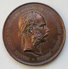 Ungarn Franz Joseph I. Bronzemdaille von Tautenhayn für die Anerkennung im Felde