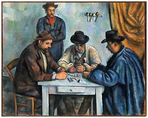 "Post-Impressionism ""The Card Players"" Paul Cézanne ca. 1892"