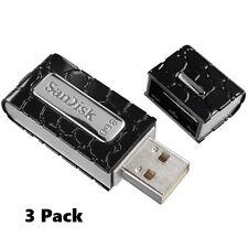 SanDisk 8GB Cruzer Gator USB 2.0 Flash Drive Black **3 Pack**