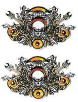 Skull, Guitars & Speaker Patch [Lot of 2] Music Emblem Symbol Badge Insignia