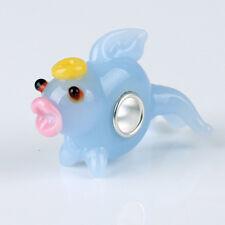 1pcs MURANO GLASS BEAD LAMPWORK Fit European Charm Bracelet DW148 lovely Animal