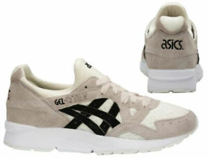 Asics Gel-Lyte V Womens Low Top Lace Up Cream Trainers H8G6L 0090 B31E