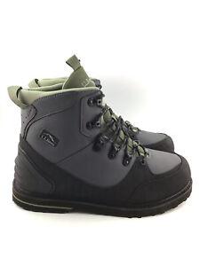 LL Bean Mens Angler Wading Boots Green Size 10