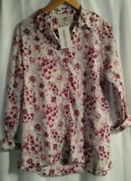 H & K Collection Women's Floral Long Sleeve Shirt Size Medium New with Tags