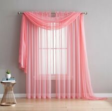 "56"" Wide X 216"" Long Sheer Valance Window / Wedding Scarf New Arrival Sale!"
