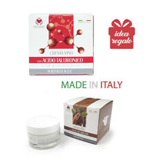 set 2 Creme nutrienti Viso con Acido Ialuronico e Olio di Argan Made in Italy