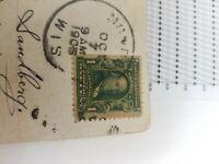 Post stamp Benjamin Franklin Stamp 1 cent Rare Great investment 3 side perf