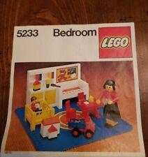Vintage 1980 Lego Bedroom Set #5233 - No Box