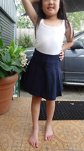 Girl size dark navy mini pleated skirt for uniform or casual size 4,6,8,14,16